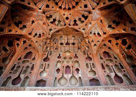 Safavid Era Palace Ali Qapu Was Built In Early 17Th Century In Isfahan, Iran