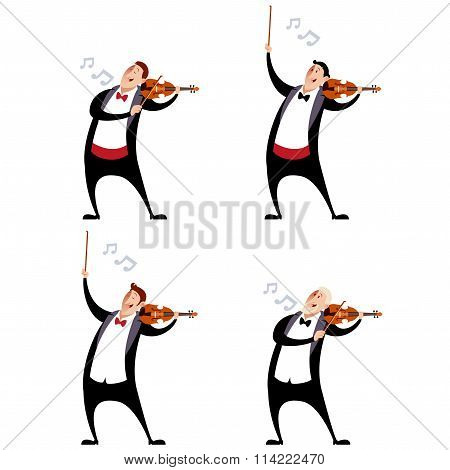 Set of violinistes
