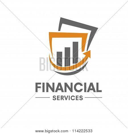 financial and success marketing logo