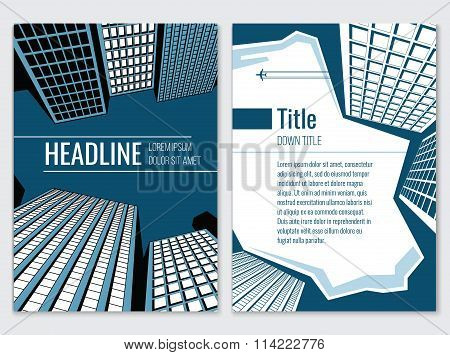 Architecture design concept. Business brochure vector template