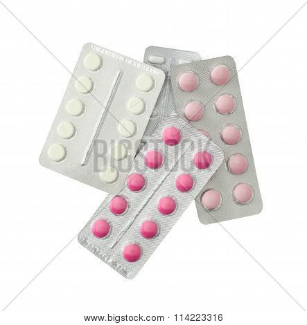 Set Of Pills In A Plastic Blister Package
