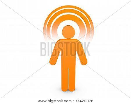 Orange Spiritual Man With Visible Color Aura