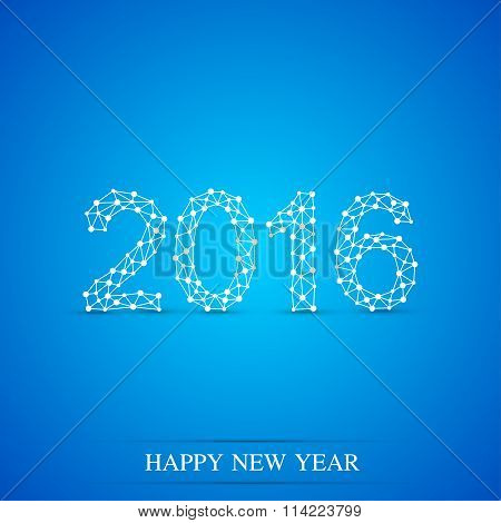 Text design Happy new year 2016
