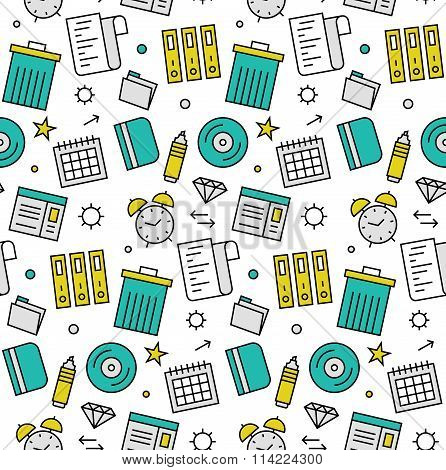 Office Objects Seamless Icons Pattern