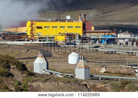View Of Mutnovskaya Geothermal Power Station On Kamchatka