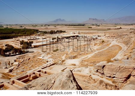 Territory Of The Famous Ruined Persepolis City In Mountains