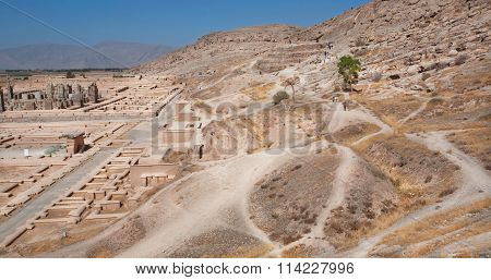 Hills Aroand The Famous Ruined Persepolis City In Mountains