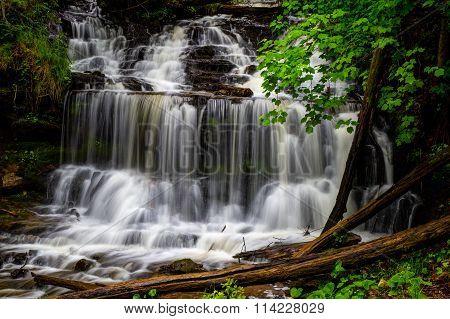Waterfall In Michigan's Upper Peninsula