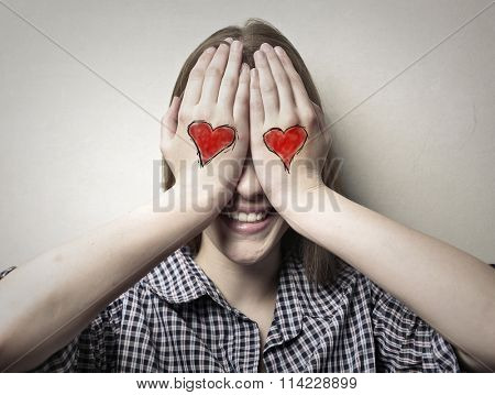 In love woman
