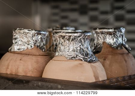 Traditional Testi Kebab Cooked In Clay Pot