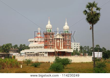 Big church in the state of Andhra pradesh in India.
