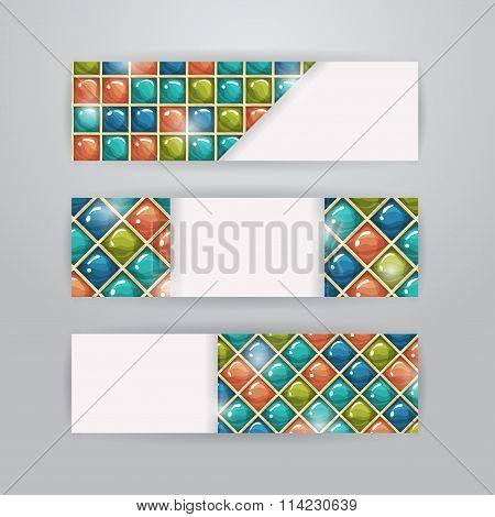Colored tiles banners