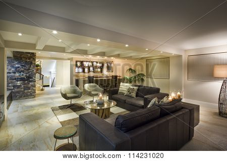 Modern Underground Living Room