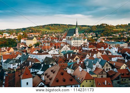 Famous Old town Cesky Krumlov in Czech republic