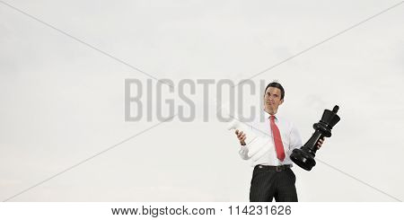 Businessman Thinking Strategy Planning Method Concept