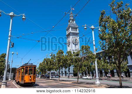Tram at the Embarcadero, San Francisco