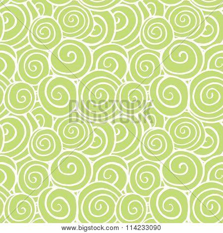 Green swirls pattern
