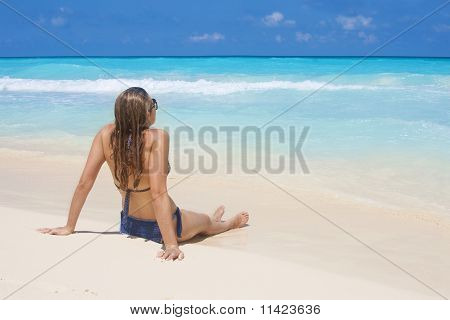 Woman on a Beach Vacation