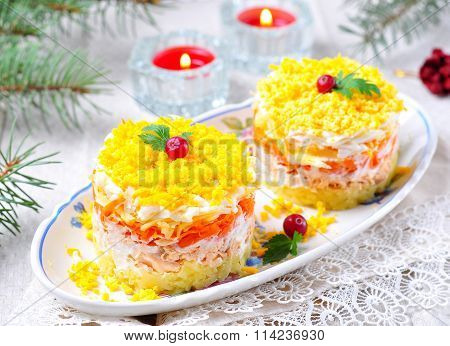 traditional Russian salad
