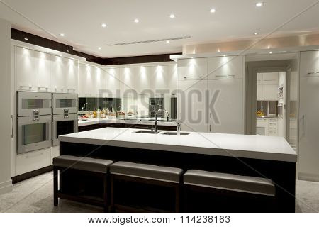 Luxurious Kitchen With A Big Island