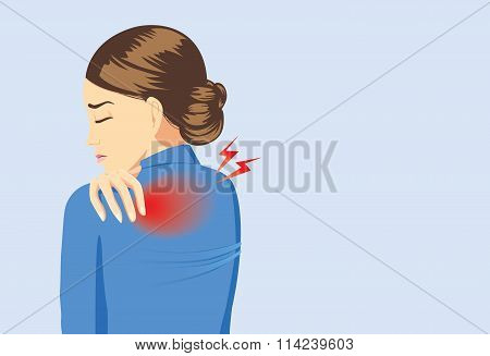 Working woman have back pain