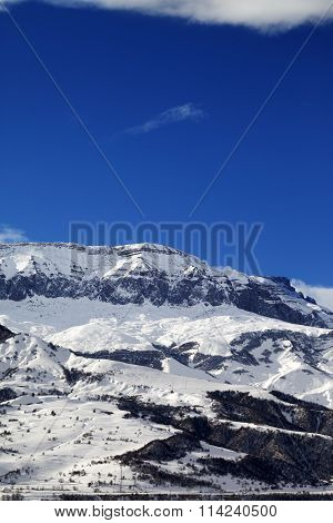 Winter Mountains At Nice Sun Day