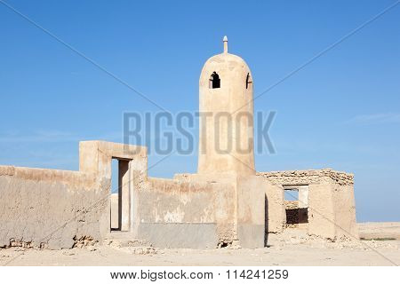 Ruin Of An Ancient Mosque In Qatar