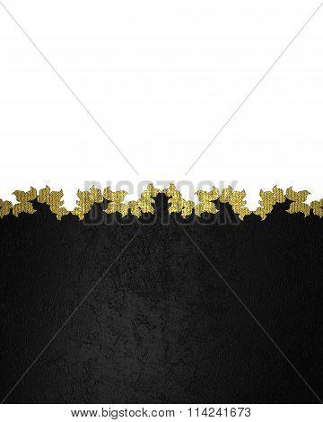 Black Velvet Patterned Template. Element For Design. Template For Design. Copy Space For Ad Brochure