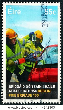 Postage Stamp Ireland 2012 Firefighters
