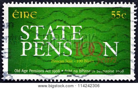 Postage Stamp Ireland 2008 Old Age Pensions Act, Centenary