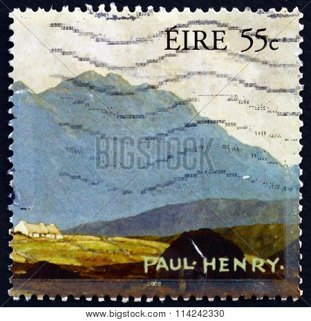 Postage Stamp Ireland 2008 Landscape, By Paul Henry