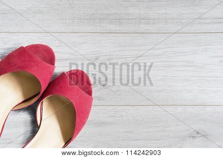 Shoes On Wooden Floor