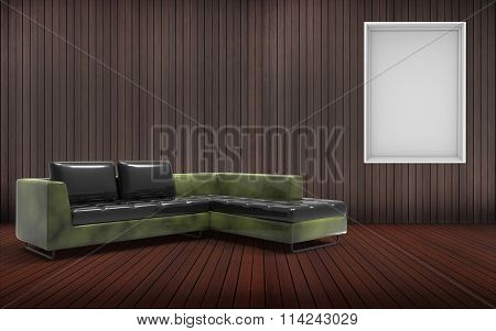 living room Minimal And Sofa Desing And Green