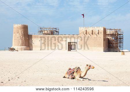 Historic Al Zubara Fort In Qatar