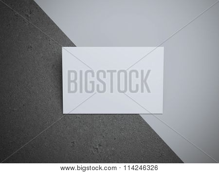 White business card in the modern studio