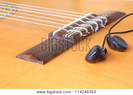 Guitar Strings On A Stand