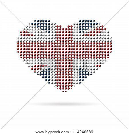 I love UK, Creative heart flag