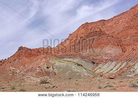 Colorful Rocks In The Desert