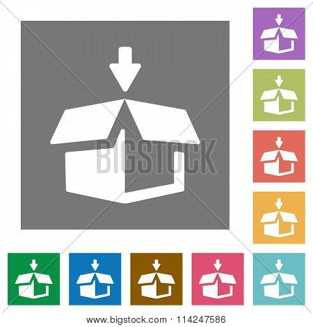 Pack Square Flat Icons