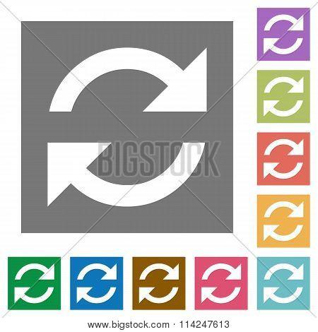 Refresh Square Flat Icons