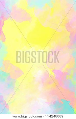 Pastel colored watercolor background