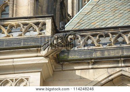 Gargoyle Of St. Vitus Cathedral In Prague, Czech Republic.