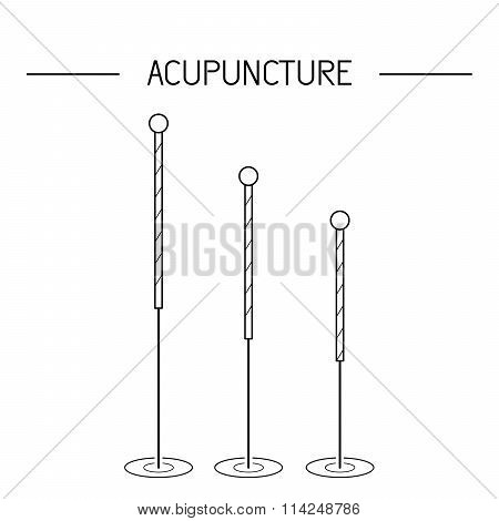 Vector Elements For Acupuncture And Massage, Tcm 02