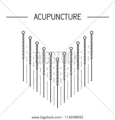 Vector Elements For Acupuncture And Massage, Tcm 04