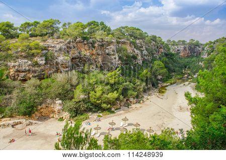 Beautiful View Of Cala Pi Bay, Mallorca, Baleares, Spain