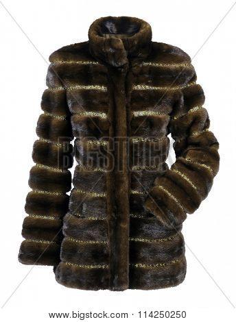 fashion fur coat isolated on white