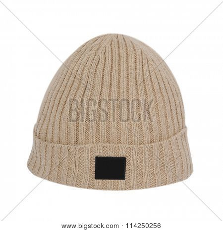wool cap isolated on white background