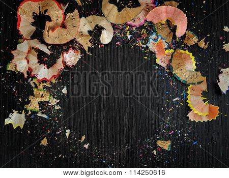 Bright Colored Abstraction On A Dark Background.