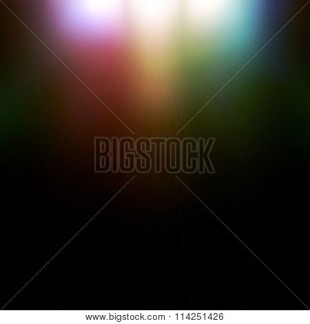 light colored spotlights on a dark background