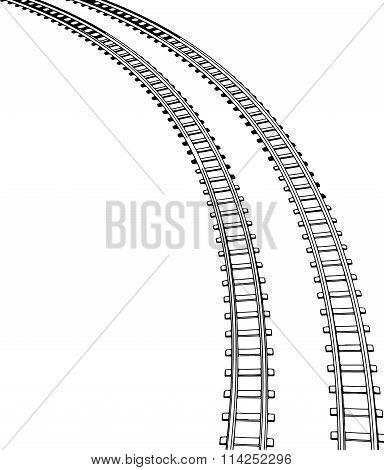 Railway vector illustration.